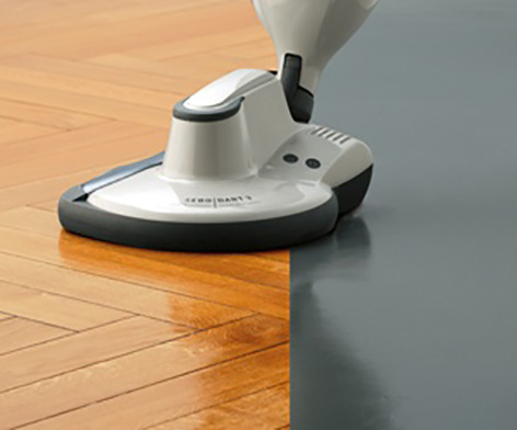 Streak-free, water-less cleaning for wood floors